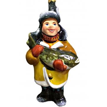 Коллекционная ёлочная игрушка «Рыбак»