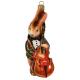 Ёлочная игрушка «Кролик с контрабасом»