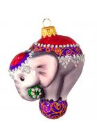 Ёлочная игрушка «Цирковой слонёнок»