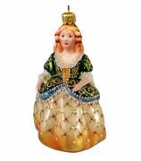 Ёлочная игрушка «Принцесса в зелёном корсете»