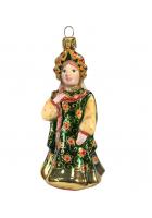 Ёлочная игрушка «Царевна в изумрудном сарафане»