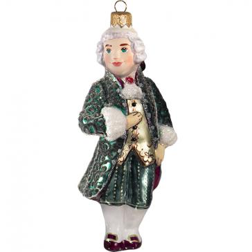Стеклянная ёлочная игрушка «Маркиз в камзоле», высота 11 см