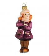 Ёлочная игрушка «Девочка в берете»