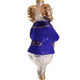 Стеклянная ёлочная игрушка «Баран с барабаном», высота 13 см
