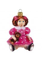 Ёлочная игрушка «Кукла с мишкой»