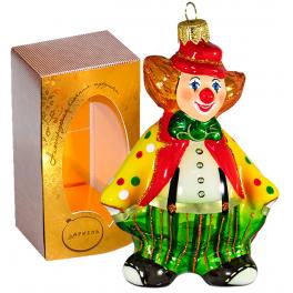 Коллекционная ёлочная игрушка «Клоун Фантик» высотой 12,5 см