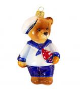 Ёлочная игрушка «Мишка с корабликом»