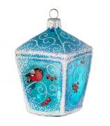 Ёлочная игрушка «Фонарь со снегирями»
