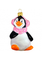 Ёлочная игрушка «Пингвин в наушниках»