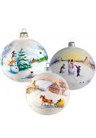 Набор ёлочных шаров «Зимняя акварель 2»