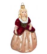 Ёлочная игрушка «Принцесса в бордовом корсете»