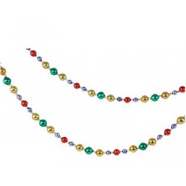 Гирлянда из разноцветных стеклянных бус и стекляруса, длина 185 см
