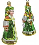 Ёлочная игрушка «Варвара-краса, длинная коса»