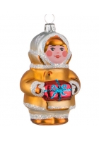 Ёлочная игрушка «Малыш с подарком»