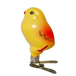Стеклянная ёлочная игрушка  «Цыплёнок»