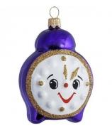Ёлочная игрушка «Синий будильник»