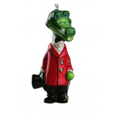 Коллекционная ёлочная игрушка «Крокодил Гена» в деревянном футляре