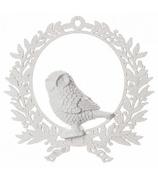 Ёлочная игрушка «Медальон с совой»