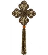Ёлочная игрушка «Цветок с кисточкой»