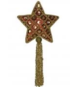 Ёлочная игрушка «Звездочка с кисточкой»