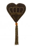 Ёлочная игрушка «Сердце с короной»
