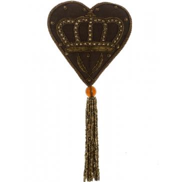 Ёлочное украшение с кисточкой «Сердце с короной»