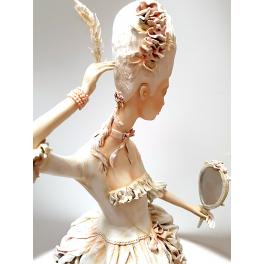 Коллекционная авторская кукла «Дама с зеркалом». Мастер Татьяна Устинкина