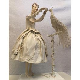 Коллекционная авторская кукла «Дама с павлином». Мастер Татьяна Устинкина
