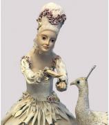 Кукла «Дама с павлином», авт. Т.Устинкина