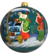 Ёлочный шар «По воду», Худ. В. Марова