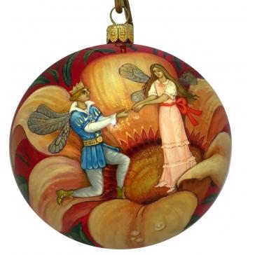 Коллекционный ёлочный шар «Дюймовочка», Художник М.Чернова, Холуй