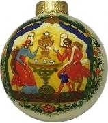 Ёлочный шар «Душевный разговор», Худ. М.Новикова
