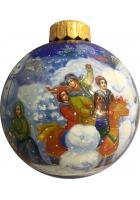 Ёлочный шар «Русская зима», Худ. М. Новикова