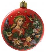 Елочный шар-диск «Дивный сад», худ. Е.Быкова