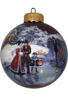 Ёлочный шар «Волшебный вечер на катке», Худ. М. Новикова