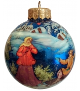 Ёлочный шар «Русская зима», Худ. Н. Варзина
