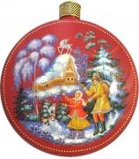 Елочный шар-диск «Серебряное копытце», худ. М.Новикова