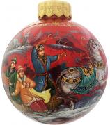 Ёлочный шар «Ах ты, зимушка-зима!», Худ. Г.Гурылева