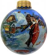 Ёлочный шар «На катке», Худ. Юскова