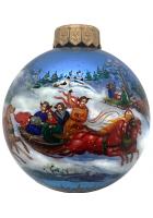 Ёлочный шар «Зимние забавы», Худ. М. Новикова