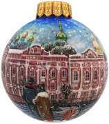 Ёлочный шар «Зима на Неве», Худ. Р.Шемякина