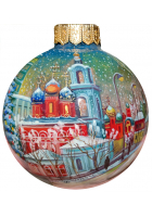 Ёлочный шар «Зимняя Москва», Худ. Р.Шемякина
