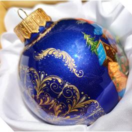 Коллекционный расписной ёлочный шар «Василиса Прекрасная», Худ. Сурикова, Палех