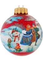 Ёлочный шар «Русская зима», Худ. О.Юскова