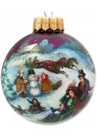 Ёлочный шар «Рождественские гулянья», Худ. Юскова