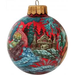 Коллекционный ёлочный шар «Морозко», Худ. Г.Гурылева, Палех