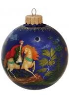 Елочный шар «Богатыри и царевна», худ. М.Новикова