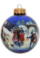 Ёлочный шар «Волшебный вечер на катке», Худ. Новикова