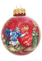 Ёлочный шар «Золотой петушок», худ. Р.Шемякина