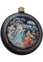 Елочный шар-диск «Морозко», Худ. Ю.Коновалова, с.Палех.